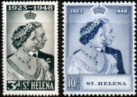 St Helena 1948 King George VI Royal Silver Wedding Set Fine Mint
