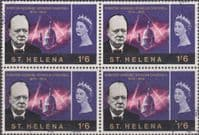 St Helena 1966 Churchill SG 204 Fine Used Block of 4