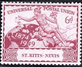 Stamps St Kitts - Nevis stamps 1949 Universal Postal Union Set Fine Used