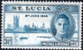 St Lucia 1946 King George VI Victory SG 143 Fine Mint