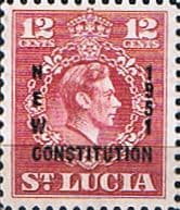 St Lucia 1951 New Costitution SG170 Fine Mint
