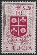 St Lucia 1953 Queen Elizabeth II SG 184 Coat of Arms Fine Used