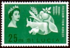 St Lucia 1963 Freedom From Hunger Fine Mint