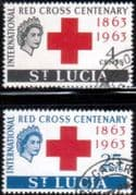 St Lucia 1963 Red Cross Centenary Set Fine Used