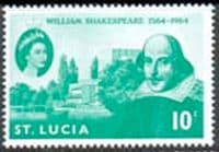 St Lucia 1964 William Shakespeare Fine Mint