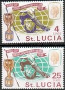 St Lucia 1966 Football World Cup Set Fine Mint
