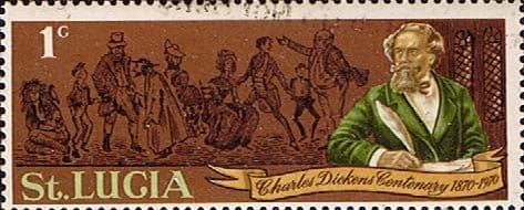 St Lucia 1970 Centenary of Charles Dickens SG 293 Fine Used