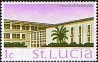 St Lucia 1970 SG 276 House of Assebley Fine Mint