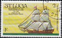 St Lucia 1976 Bicentenary of American Revolution Ship SG 407 Fine Used