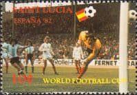 St Lucia 1982 World Cup Football Championship SG 611 Fine Mint