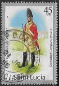 St Lucia 1985 Military Uniforms SG 935 Birds Used