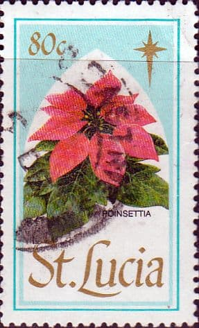 St Lucia 1988 Christmas. Flowers SG 1011 Fine Used