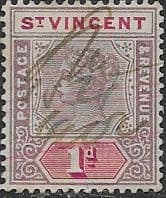 St Vincent 1899 Queen Victoria  SG 68 Good Used