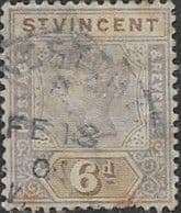 St Vincent 1899 Queen Victoria  SG 73 Used