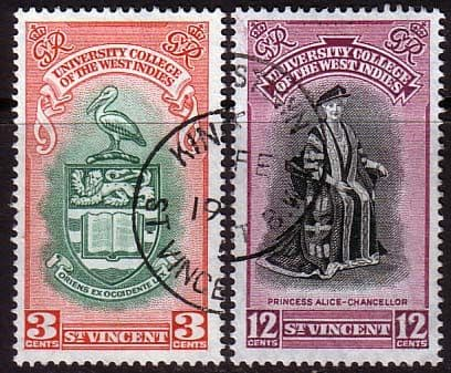 St Vincent 1951 British West Indies University College Set Fine Used