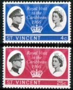 St Vincent 1966 Caribbean Royal Visit Set Fine Mint