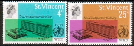 St Vincent 1966 World Health Organisation Set Fine Mint