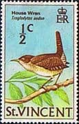 St Vincent 1970 Birds SG 285 House Wren Fine Mint