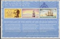 St Vincent 1972 Bicentenary of Sir Charles Brisbane Miniature Sheet Fine Mint