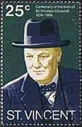 St Vincent 1974 Centenary of Sir Winston Churchill SG 403 Fine Mint