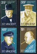 St Vincent 1974 Churchill Centenary Set Fine Mint