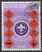 St Vincent 1974 Diamond Jubilee of Scout Movement SG 399 Fine Used
