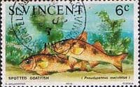 St Vincent 1975 Fish SG 427 Spotted Goatfish Fine Used