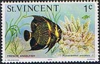 St Vincent 1975 Marine life SG 422 French Angel Fish Fine Mint