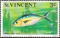 St Vincent 1975 Marine life SG 424 Yellow jack Fish Fine Mint