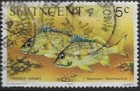 St Vincent 1975 Marine life SG 426 French grunt Fish Fine Used