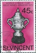 St Vincent 1976 West Indian Victory in World Cricket SG492 Fine Used