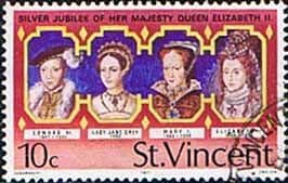 St Vincent 1977 Silver Jubilee SG 507 Kings Fine Used