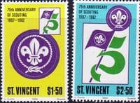 St Vincent 1982 Boy Scout Movement Set Fine Mint