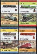 St Vincent 1984 Leaders of the World. Railway Locomotives Set 3rd Series Fine Mint