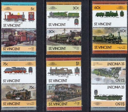 St Vincent 1985 Leaders of the World. Railway Locomotives Set 4th Series Fine Mint