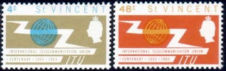 St Vincent International Telecommunication Union Set Fine Mint