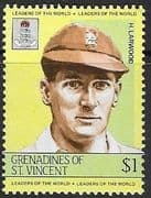 St Vincent  Island 1984 Leaders of the World. Cricketers SG 336 Fine Mint