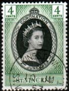 St Vincent Queen Elizabeth II 1953 Coronation Fine Used