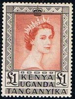 Stamps of British East Africa - Kenya Uganda and Tanganyka