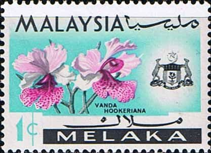 State of Malacca 1965 Orchids SG 61 Fine Mint