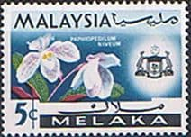 State of Malacca 1965 Orchids SG 63 Fine Mint
