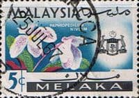 State of Malacca 1965 Orchids SG 63 Fine Used