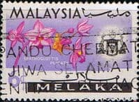 State of Malacca 1965 Orchids SG 64 Fine Used