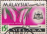 State of Malacca 1965 Orchids SG 66 Fine Used