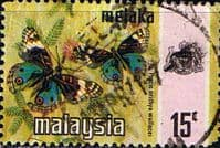 State of Malacca 1971 Butterflies SG 75 Fine Used
