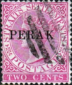 Stamps Malay State of Perak 1887 Queen Victoria Straits Settlement Overprinted and Surcharged SG 33 Fine Mint