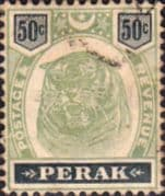 State of Perak 1895 Elepants SG 75 Fine Used
