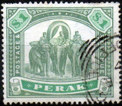 Stamps Malay State of Perak 1895 Tiger SG 75 Fine Used Scott 56