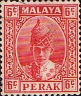 Malay State of Perak 1938 Sultan Iskandar SG 109 Fine Used Scott 88