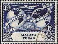 State of Perak 1949 Universal Postal Union SG 125 Used